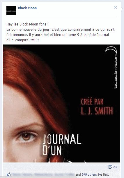 Annonce de la sortie de Journal d'un Vampire tome 9