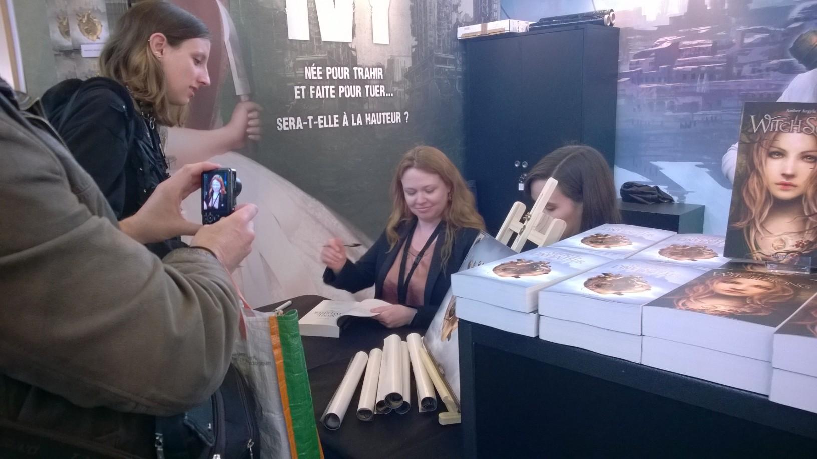 Andrea Kremer au Salon du Livre de Paris 2015