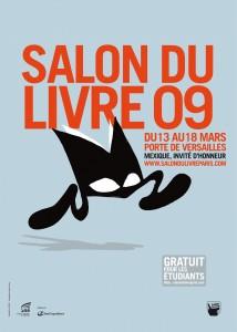Affiche du Salon du livre de Paris 2009