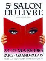 Affiche du Salon du livre de Paris 1985