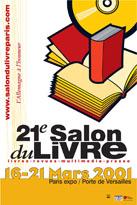 Affiche du Salon du livre de Paris 2001