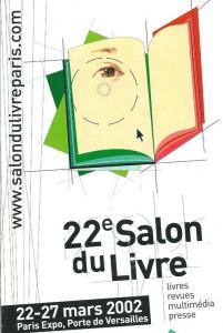 Affiche du Salon du livre de Paris 2002