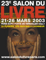 Affiche du Salon du livre de Paris 2003