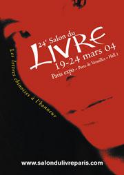 Affiche du Salon du livre de Paris 2004