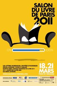 Affiche du Salon du livre de Paris 2011