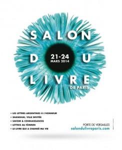 Affiche du Salon du livre de Paris 2014