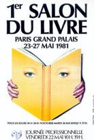 Affiche du Salon du livre de Paris 1981