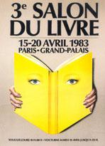 Affiche du Salon du livre de Paris 1983