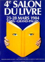 Affiche du Salon du livre de Paris 1984