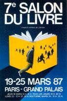 Affiche du Salon du livre de Paris 1987
