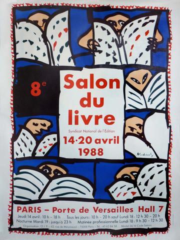 Affiche du Salon du livre de Paris 1988
