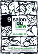 Affiche du Salon du livre de Paris 1989