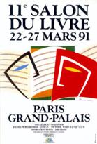 Affiche du Salon du livre de Paris 1991