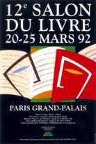 Affiche du Salon du livre de Paris 1992