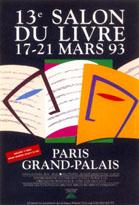Affiche du Salon du livre de Paris 1993