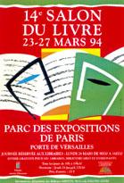 Affiche du Salon du livre de Paris 1994