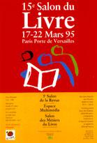 Affiche du Salon du livre de Paris 1995