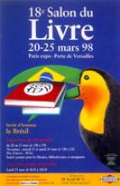 Affiche du Salon du livre de Paris 1998