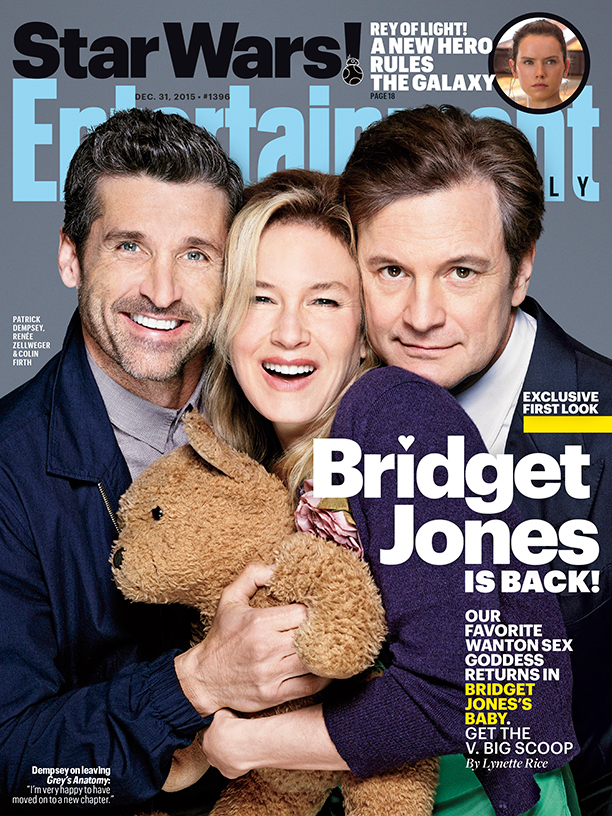 Le casting de Bridget Jones et couverture de Entertainement Weekly