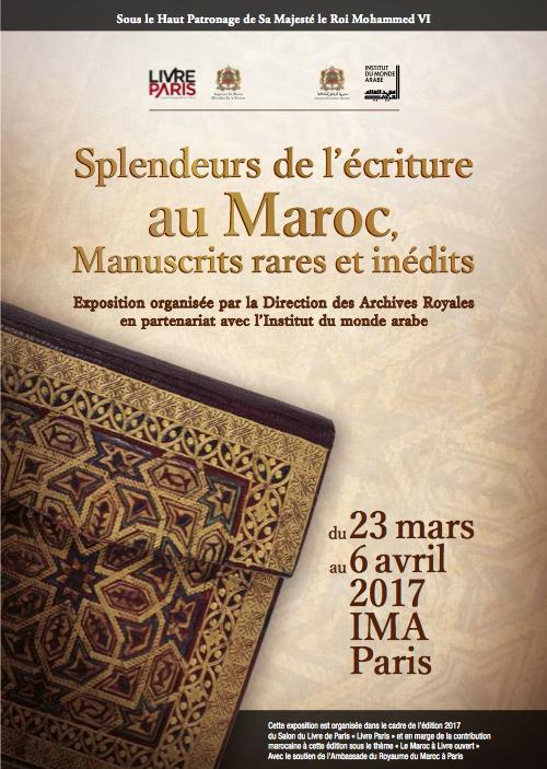 Affiche manuscrits Exposition maroc