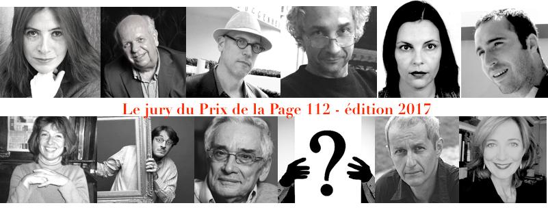Jury du Prix de la page 112 2017