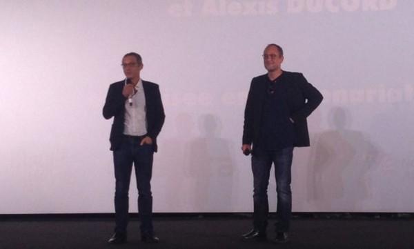 Arthur de Pins (Réalisateur) et Henri Magalon (Producteur) à l'avant-première de Zombillénium à Angoulême.