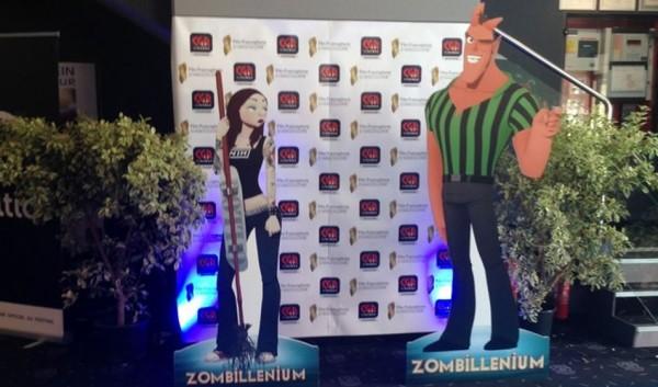 Gretchen et Hector, les deux protagonistes de Zombillénium à l'avant-première du film à Angoulême.