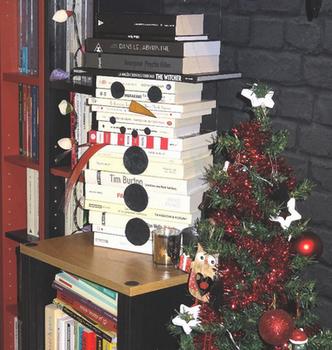 Bonhomme de neige en livres