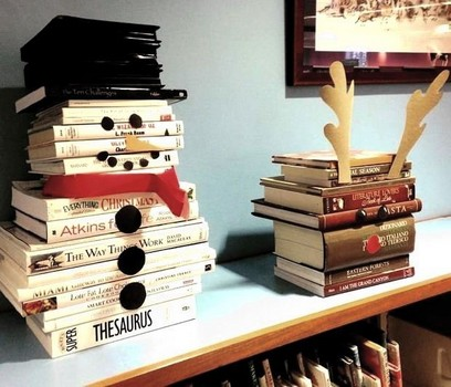 Bonhomme de neige et Renne en livres