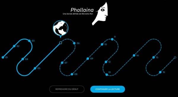 Phallaina - Menu de l'application