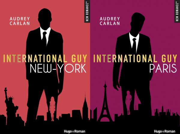 Les 2 premiers tomes d'International Guy d'Audrey Carlan qui viennent de sortir