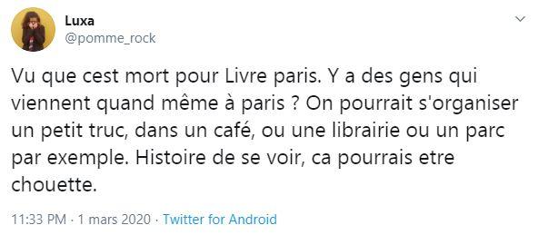 MessageTwitterAnnulationLivreParis-1