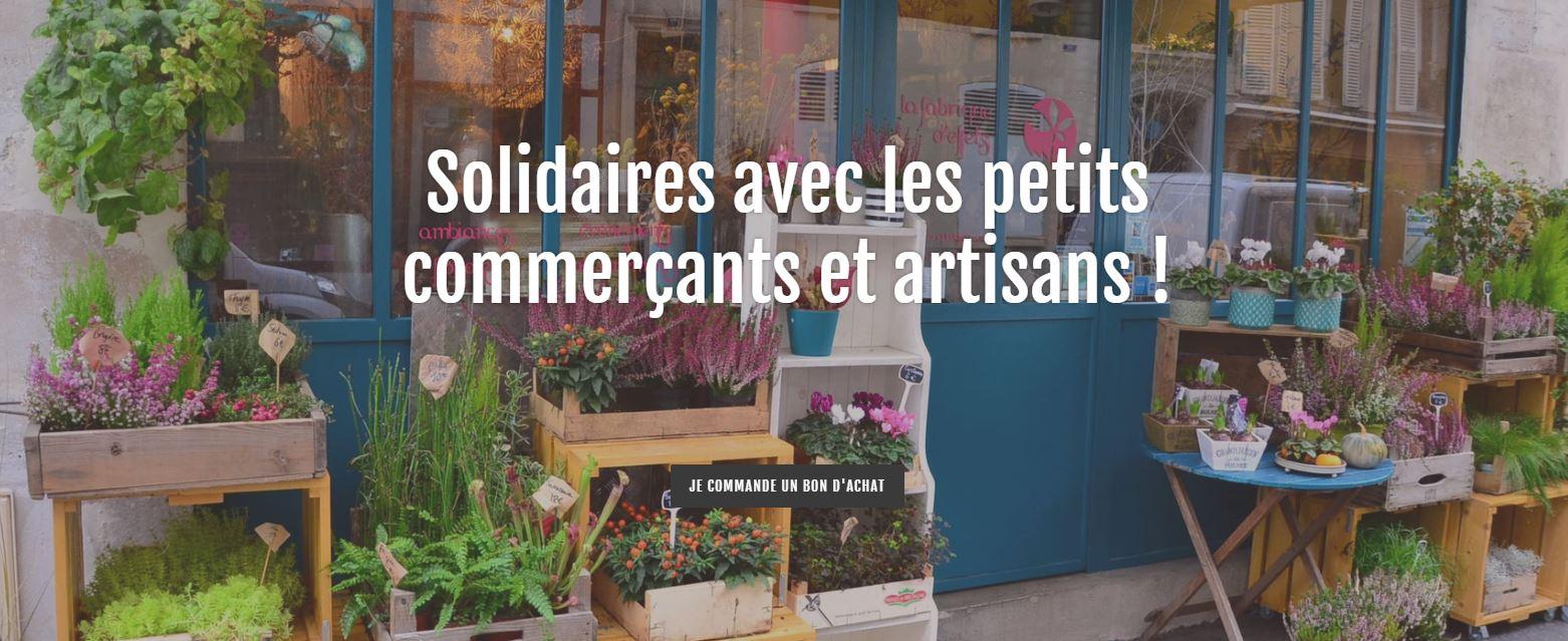 Soutient Commerçants Artistans Bannière